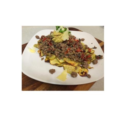 Beef Nachos with Guacamole